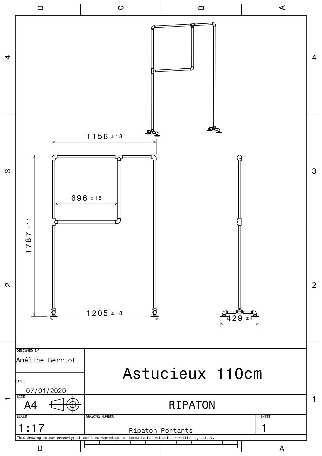 Plan technique pour l'astucieux 110 cm