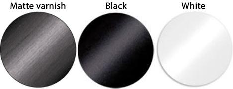 Palette de couleur Vernis mat, noir, blanc