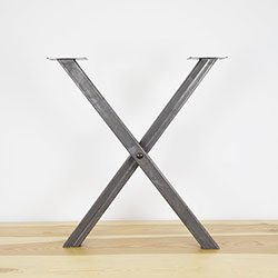 Steel table leg the inflexible